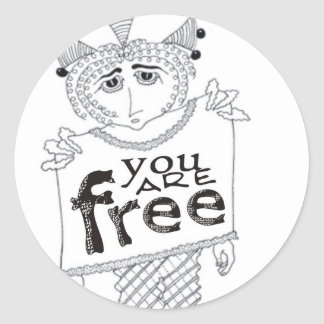You Are Free Stickers