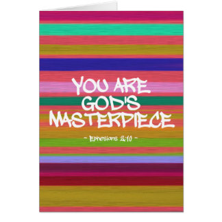 You Are God's Masterpiece Ephesians Quote Card