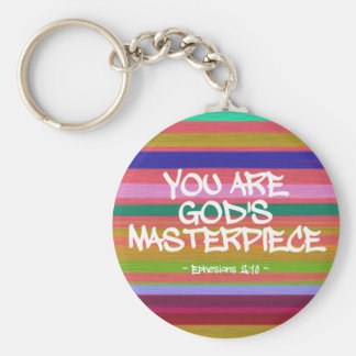 You Are God's Masterpiece Ephesians Quote Keychain