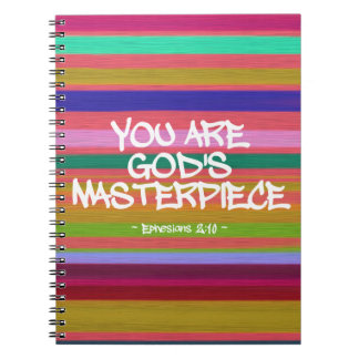 You Are God's Masterpiece Ephesians Quote Spiral Note Book