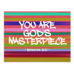 You Are God's Masterpiece Ephesians Quote Postcard