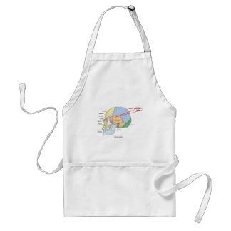 You Are Here (Brain Temporal Region Anatomical) Adult Apron