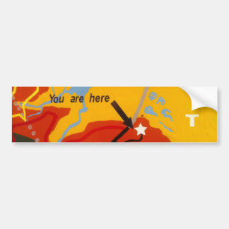 You Are Here bumper sticker