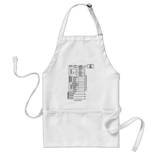 You Are Here (Geological Age Earth's History) Adult Apron