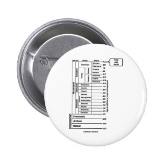 You Are Here (Geological Age Earth's History) Pinback Button