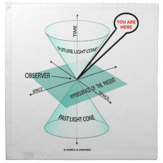 You Are Here Light Cone Space Time (Physics) Cloth Napkin