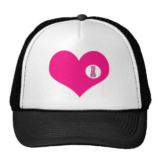YOU ARE HERE - love and valentine's day gift Mesh Hats