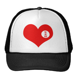 YOU ARE HERE - love and valentine's gifts Hats