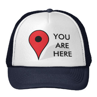 You Are Here Map Trucker Hat