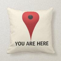 YOU ARE HERE Pillow (<em>$32.90</em>)