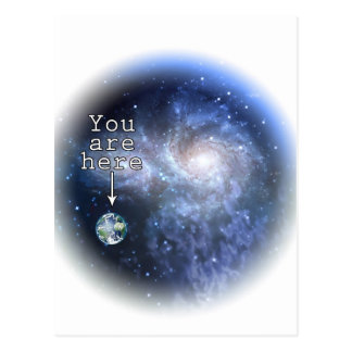 You are here postcard
