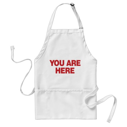 You Are Here - Red Adult Apron
