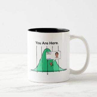 You Are Here Two-Tone Coffee Mug