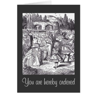 You are hereby ordered card
