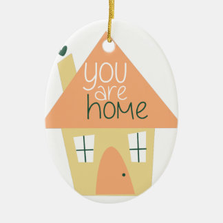 You Are Home Double-Sided Oval Ceramic Christmas Ornament