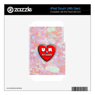 You Are In My Heart iPod Touch 4G Skins