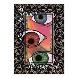 You are inv-eye-ted 5x7 paper invitation card