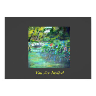 You are Invitated - DC Hydrangea Garden View Paint Card