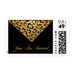 You Are Invited Animal Print Party Postage