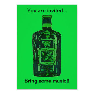 """You are invited. Bring some music"" Invitation"
