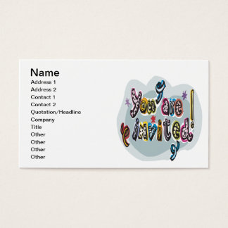 You Are Invited Business Card