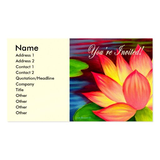 Lotus flower business card templates page7 bizcardstudio you are invited invitation cards more multi business card templates colourmoves