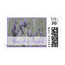 You Are Invited lavender flowers Postage