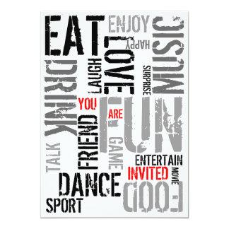 You Are Invited Party Invitation Fun Words 1