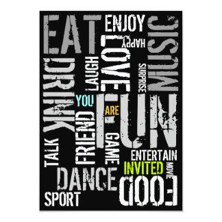 You Are Invited Party Invitation Fun Words 2