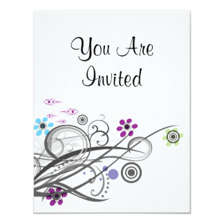 You Are Invited Retro Circles And Loops Shower Card