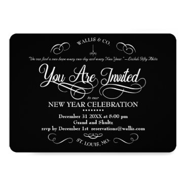 Professional Business You Are Invited Scrolls Card