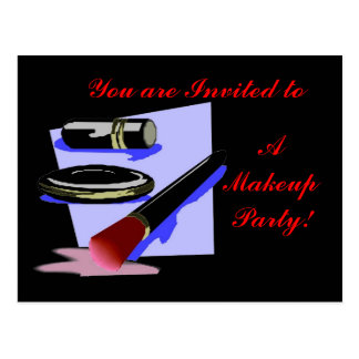 You are Invited to a Makeup Party! Postcard
