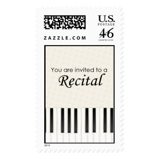 You are invited to a Recital Postage
