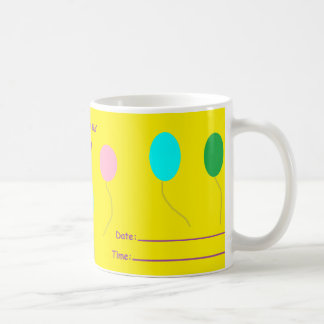 'You Are Invited to My Birthday Party' Coffee Mug