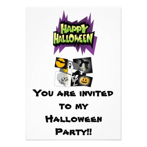 You are invited to my Halloween Party!! Personalized Invites