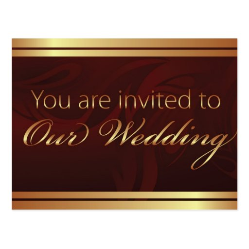 You Are Invited To Our Wedding - Postcard