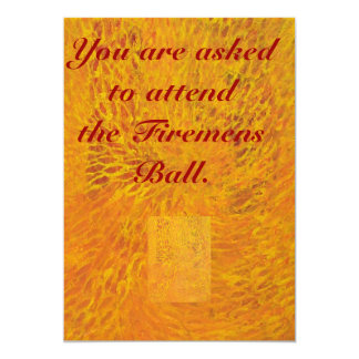 You Are Invited To The Firemens Ball Card