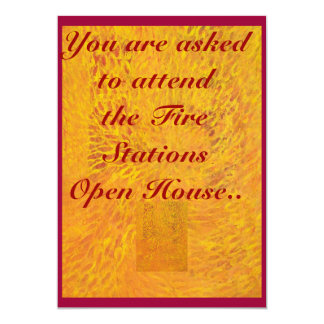 You Are Invited To The Firemens Open House Card