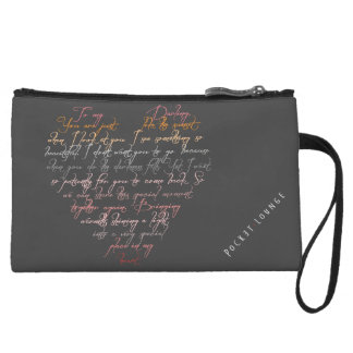 YOU ARE LIKE THE SUNSET poem Wristlet