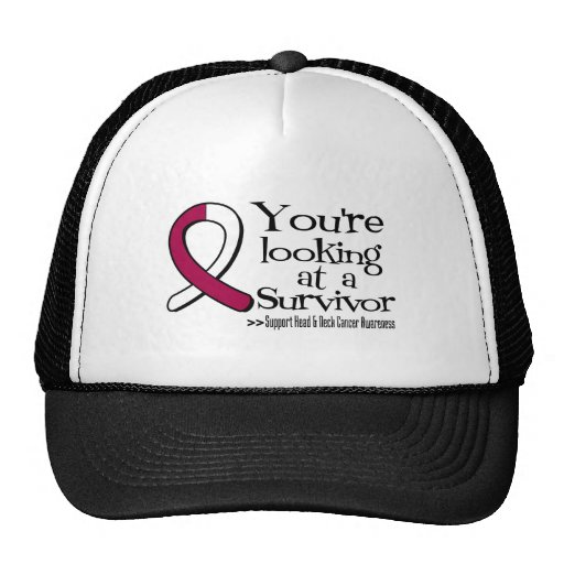 You are Looking at a Head Neck Cancer Survivor Trucker Hat