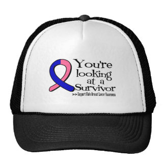 You are Looking at a Male Breast Cancer Survivor Trucker Hat