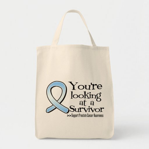 You are Looking at a Prostate Cancer Survivor Grocery Tote Bag
