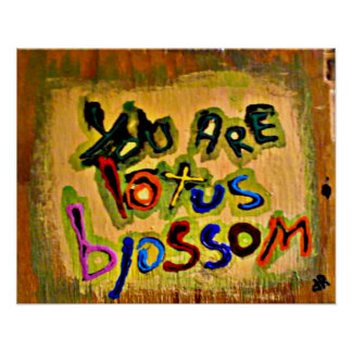 you are lotus blossom poster