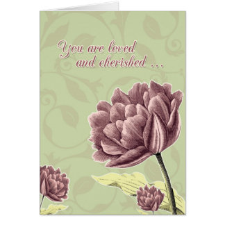 You are loved and cherished, hospice,final goodbye card