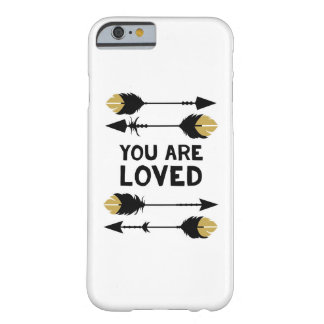 You are Loved - Black and Gold - Phone Case