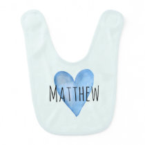 You Are Loved Customizable Heart Boys Bib