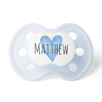 You Are Loved Customizable Heart Boy's Pacifier