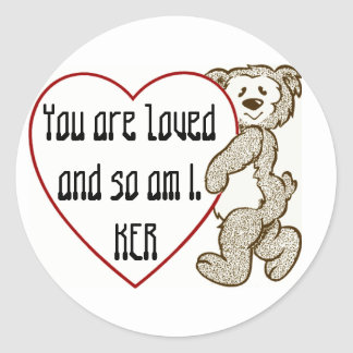 You are Loved - Customizable Classic Round Sticker