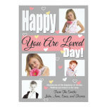 You are loved day valentine greeting four photo invites