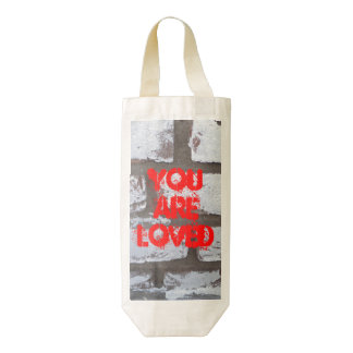 You are Loved, HEART wine bag, graffiti wall Zazzle HEART Wine Bag